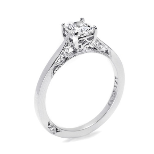 Tacori Dantela Platinum Engagement Ring 2638PR45 Alternative View 1