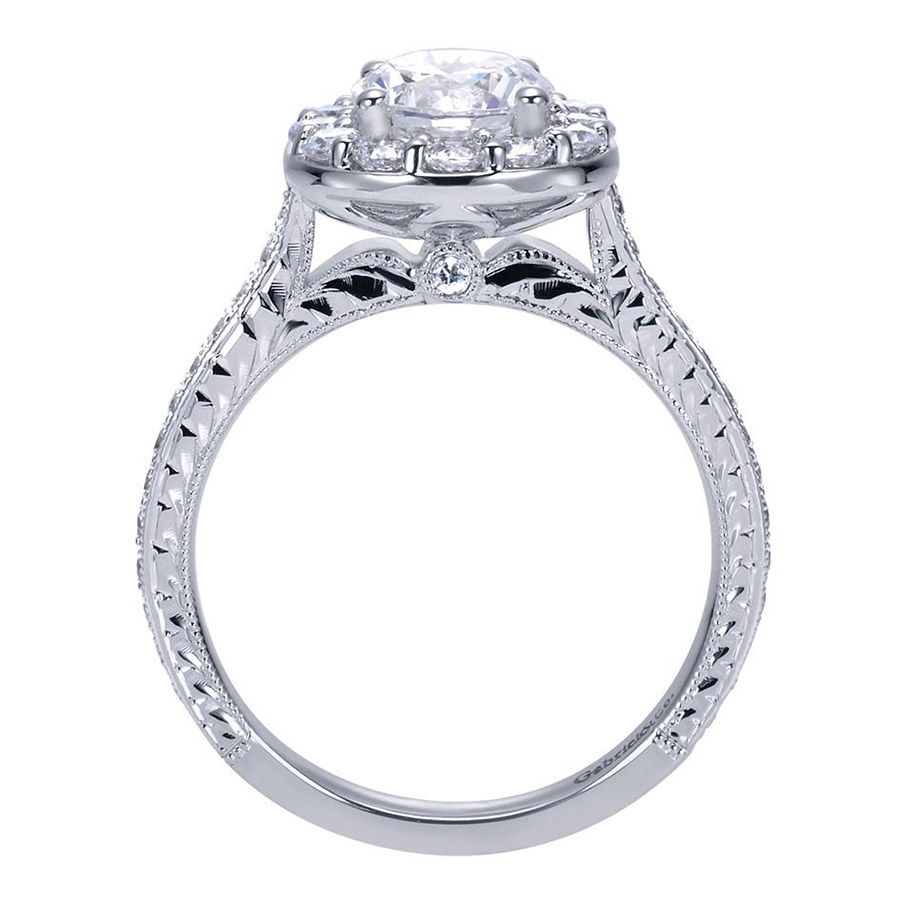 Gabriel 14 Karat Victorian Engagement Ring Er7504w44jj Alternative View  1