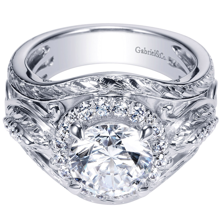 Gabriel 18 Karat Contemporary Engagement Ring ER8457W83JJ