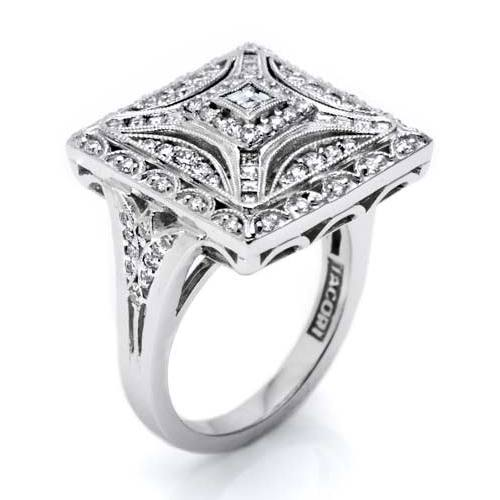 Tacori Diamond Ring Platinum Fine Jewelry FR802 Alternative View 1