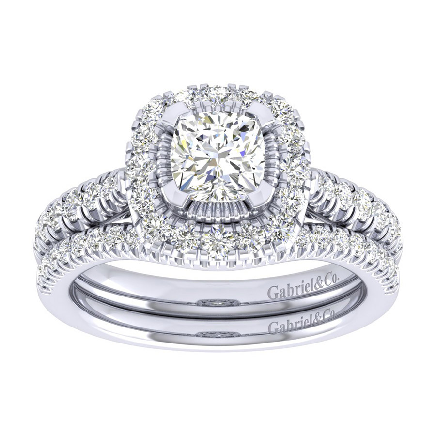 Gabriel 14 Karat Perfect Match Engagement Ring ER039B4AJW44JJ Alternative View 3