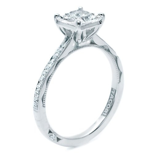 Simply Tacori Platinum Diamond Solitaire Engagement Ring 50PRP6 Alternative View 1