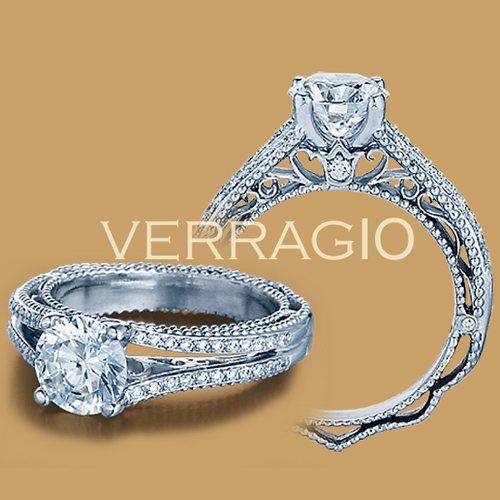 Verragio Venetian-5008 Platinum Engagement Ring Alternative View 1