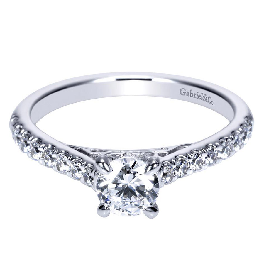 Gabriel 14 Karat Contemporary Engagement Ring ER98539W44JJ