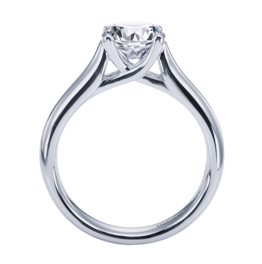 Gabriel Platinum Contemporary Engagement Ring ER6602PTJJJ Alternative View 1
