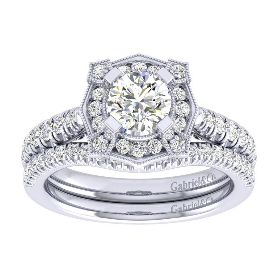 Gabriel 14 Karat Perfect Match Engagement Ring ER039B3ADW44JJ Alternative View 3