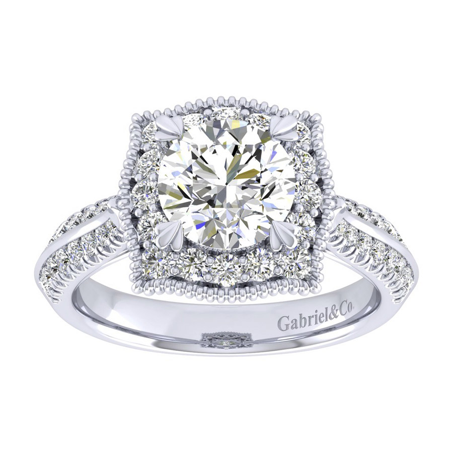 Gabriel 14 Karat Perfect Match Engagement Ring ER002C6AAW44JJ Alternative View 4