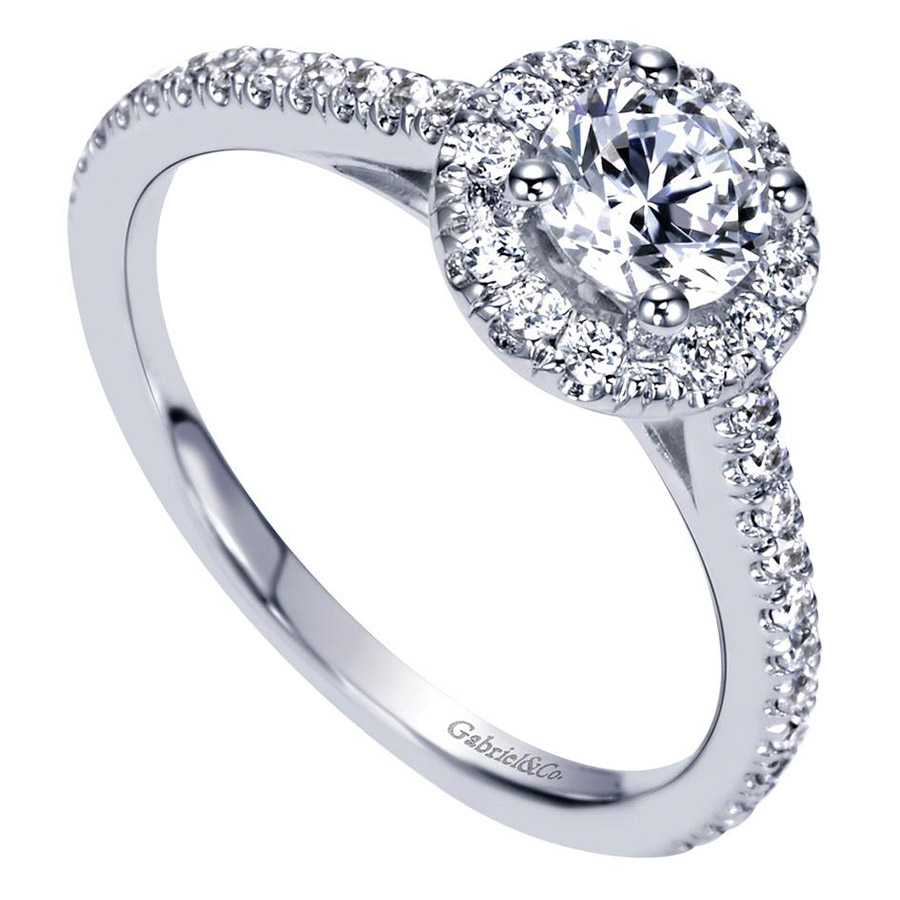 Gabriel 14 Karat Contemporary Engagement Ring ER98523W44JJ Alternative View 2