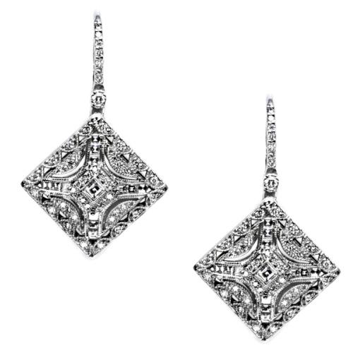 tacori diamond earrings platinum fine jewelry fe802 tq