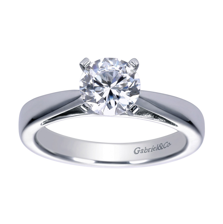 Gabriel Platinum Contemporary Engagement Ring ER8132PTJJJ Alternative View 4