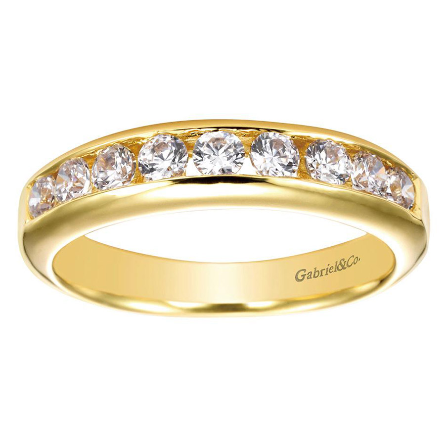 Gabriel 14 Karat Contemporary Wedding Band WB3962Y44JJ Alternative View 4