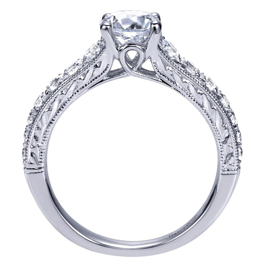 Gabriel 14 Karat Contemporary Engagement Ring ER98717W44JJ Alternative View 1