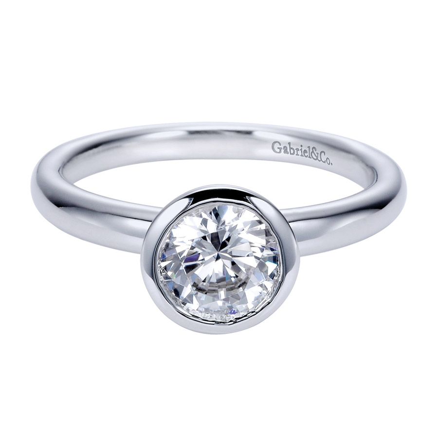 Gabriel Platinum Contemporary Engagement Ring ER8077PTJJJ