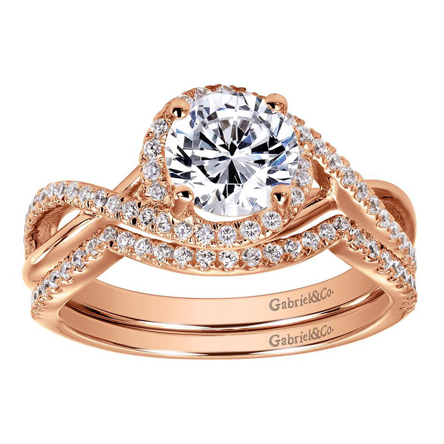 Gabriel 14 Karat Contemporary Engagement Ring ER7804K44JJ Alternative View 3