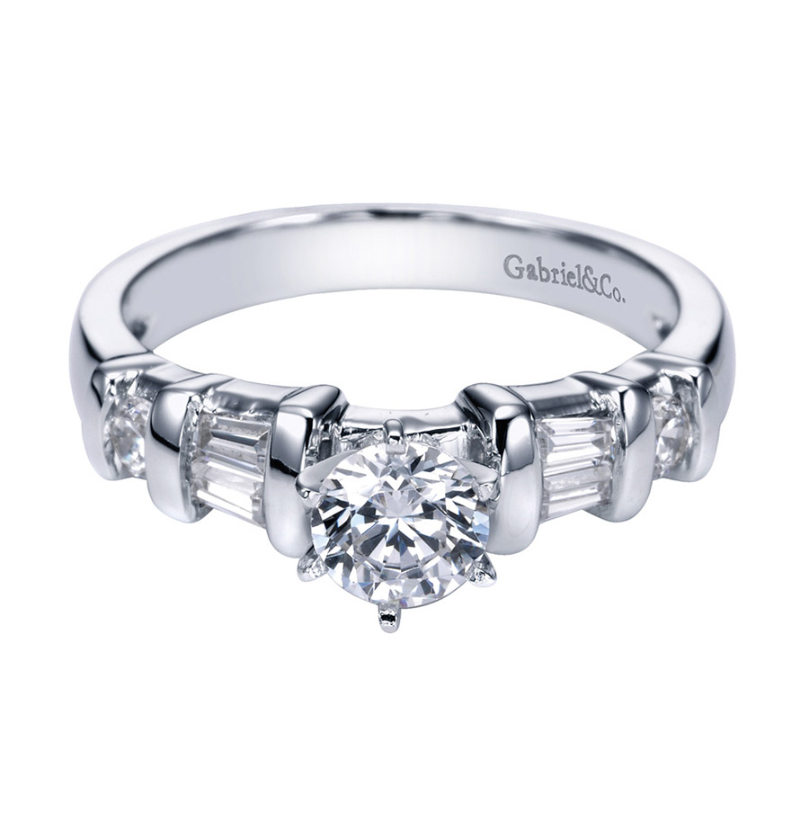 Gabriel 14 Karat Contemporary Engagement Ring ER2693PT3JJ