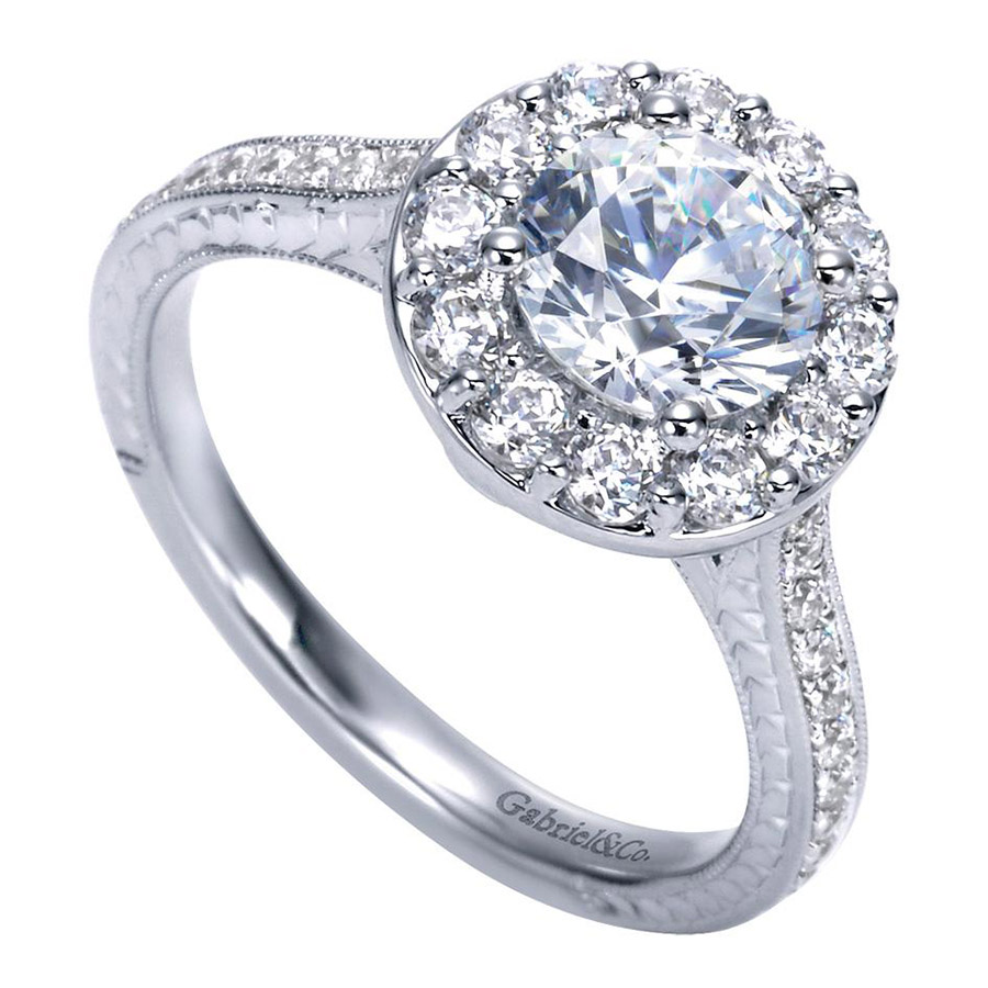 Gabriel 14 Karat Victorian Engagement Ring Er7504w44jj Alternative View  2