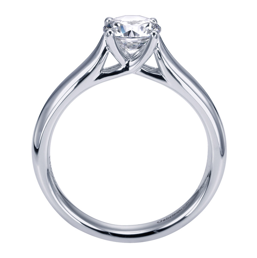 Gabriel Platinum Contemporary Engagement Ring ER6600PTJJJ Alternative View 1