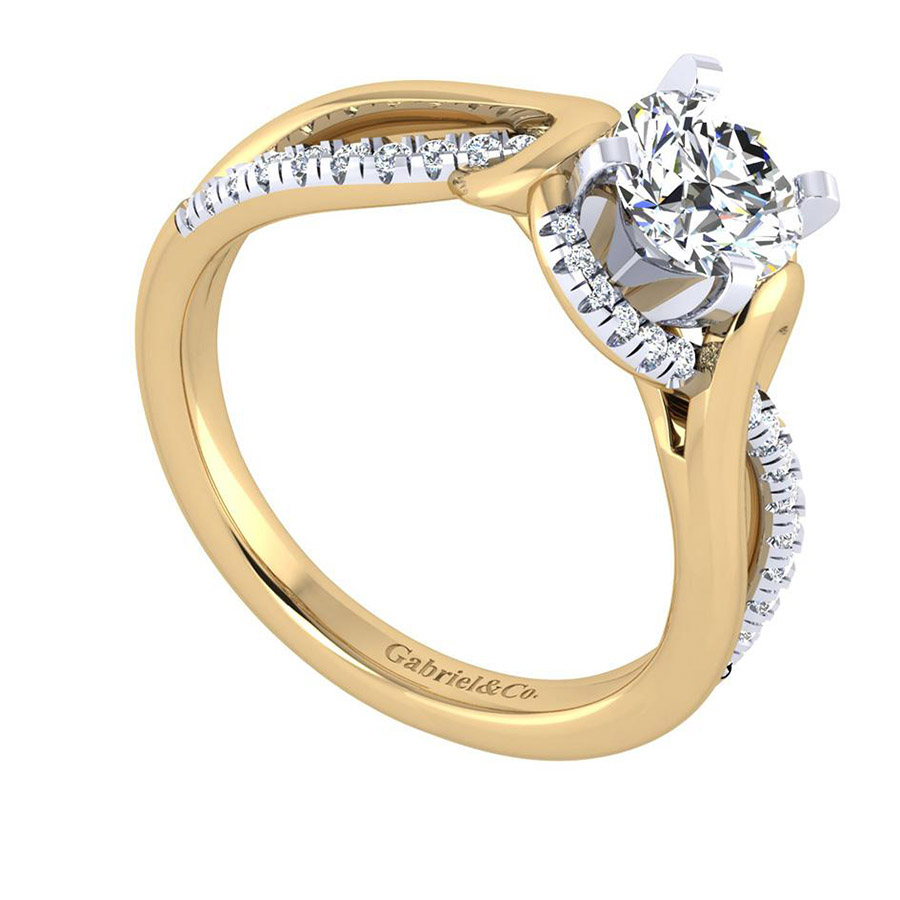 Gabriel 14 Karat Contemporary Engagement Ring ER7801M44JJ Alternative View 2