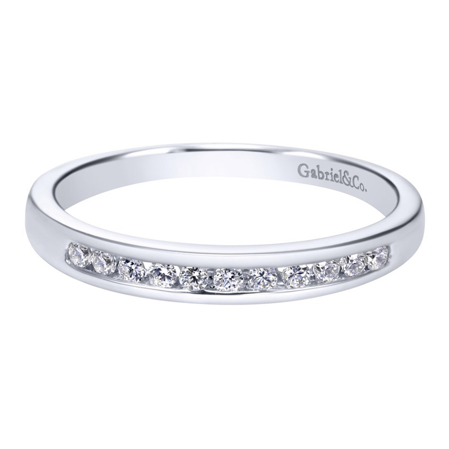Gabriel 14 Karat Contemporary Wedding Band WB2633PT3JJ