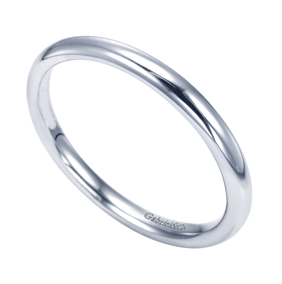 Gabriel Platinum Contemporary Wedding Band WB7490PTJJJ Alternative View 2