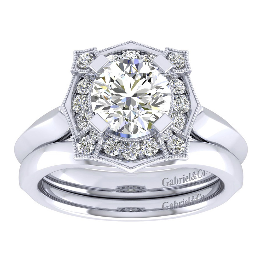 Gabriel 14 Karat Perfect Match Engagement Ring ER001C6ADW44JJ Alternative View 3