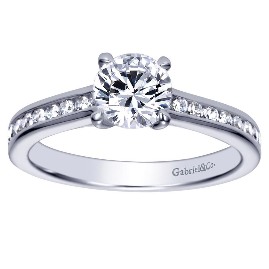 Gabriel 14 Karat Contemporary Engagement Ring ER98718W44JJ Alternative View 4