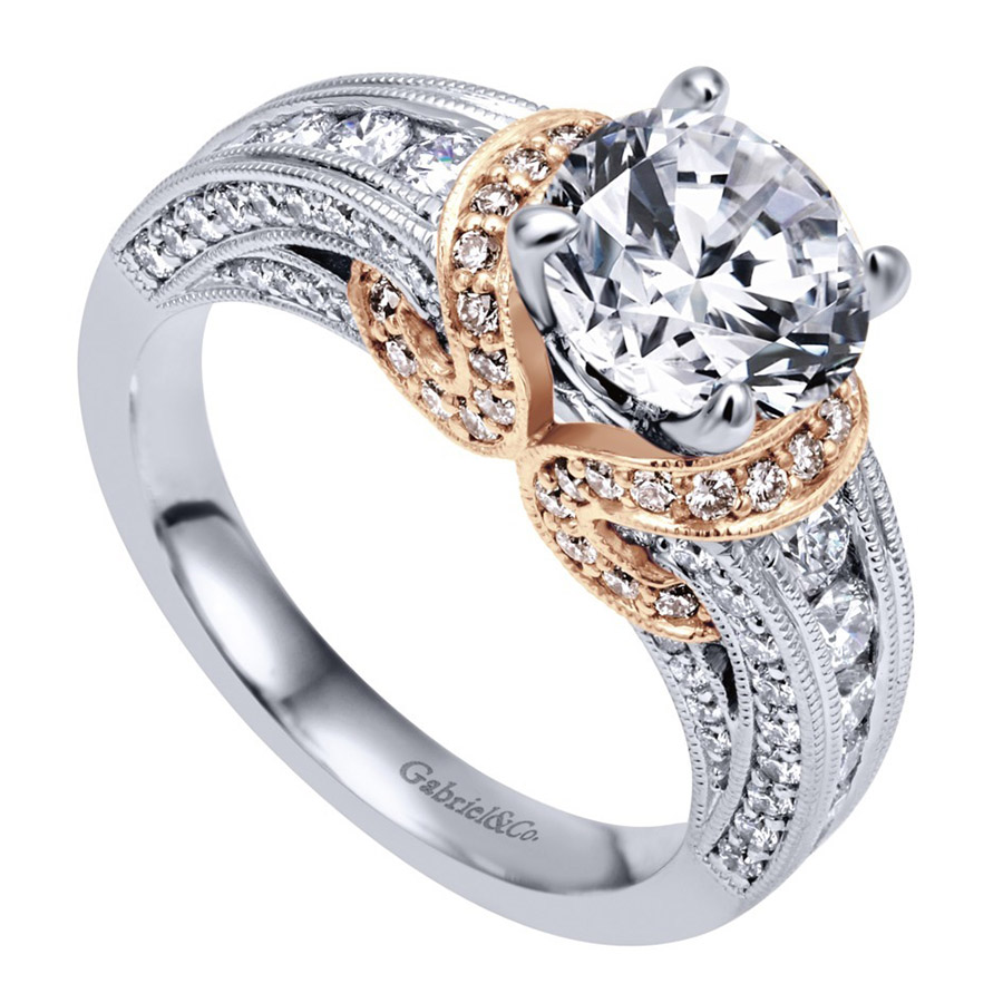 Gabriel 14 Karat Victorian Engagement Ring ER11835R4T44JJ Alternative View 2