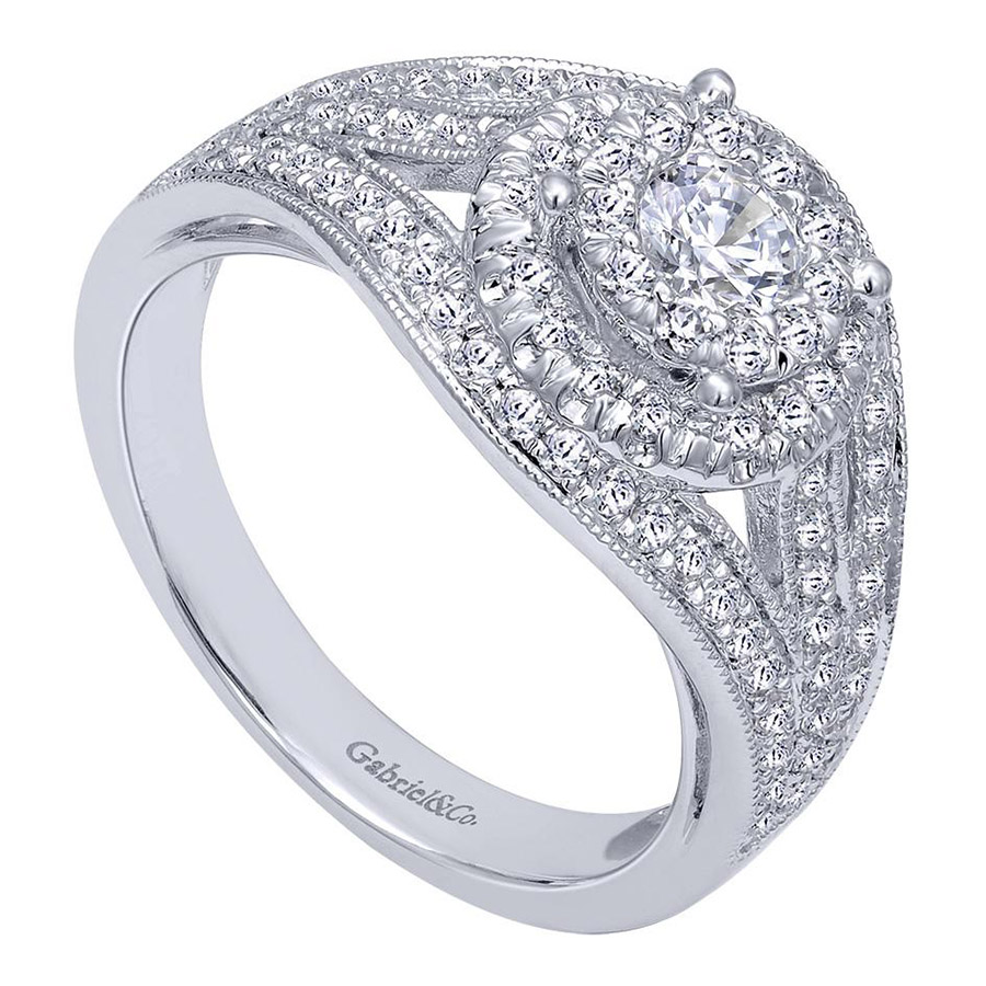 Gabriel 14 Karat Contemporary Engagement Ring ER910425W44JJ Alternative View 2