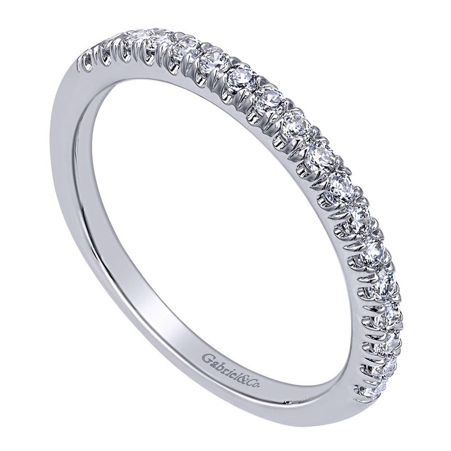 Gabriel 14 Karat Contemporary Wedding Band WB10483W44JJ Alternative View 2