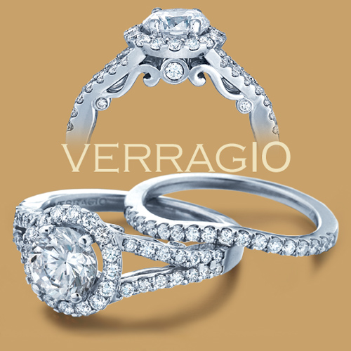 Verragio Platinum Insignia Engagement Ring INS-7010R Alternative View 1