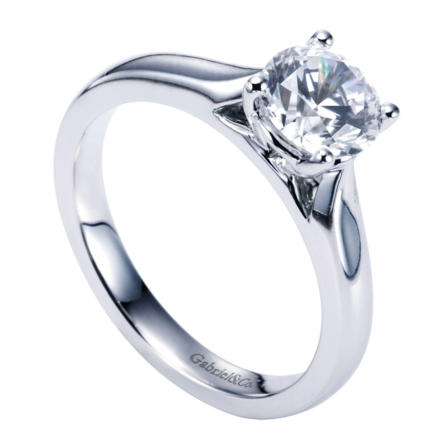 Gabriel Platinum Contemporary Engagement Ring ER6645PTJJJ Alternative View 2