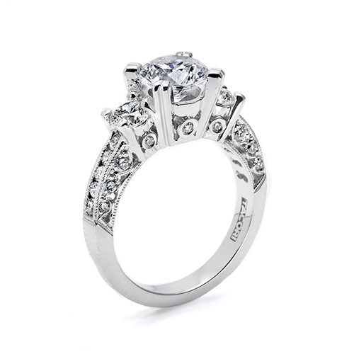 Tacori Platinum Crescent Engagement Ring HT232612X Alternative View 1