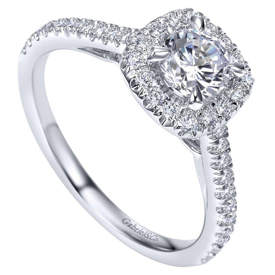 Gabriel 14 Karat Contemporary Engagement Ring ER98520W44JJ Alternative View 2