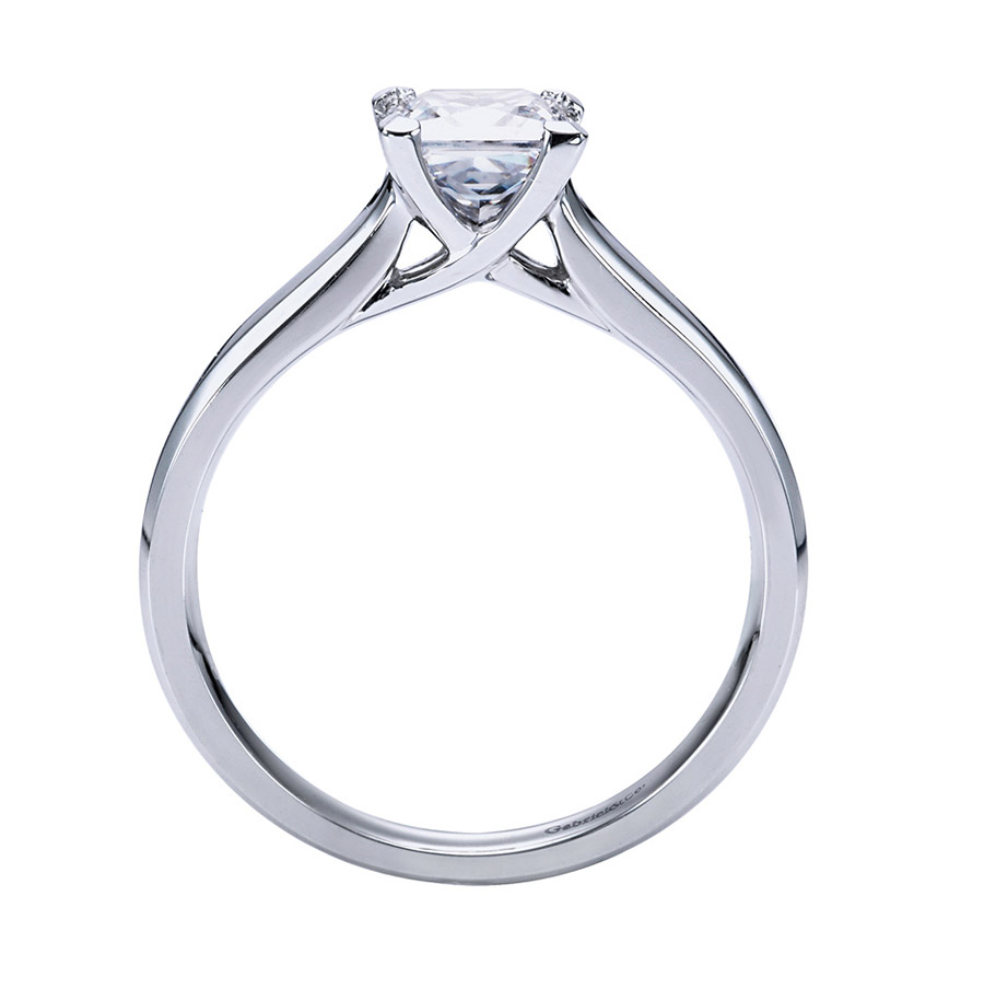 Gabriel Platinum Contemporary Engagement Ring ER6575PTJJJ Alternative View 1