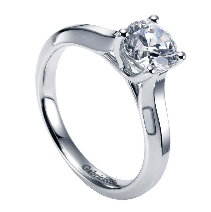 Gabriel Platinum Contemporary Engagement Ring ER6611PTJJJ Alternative View 2