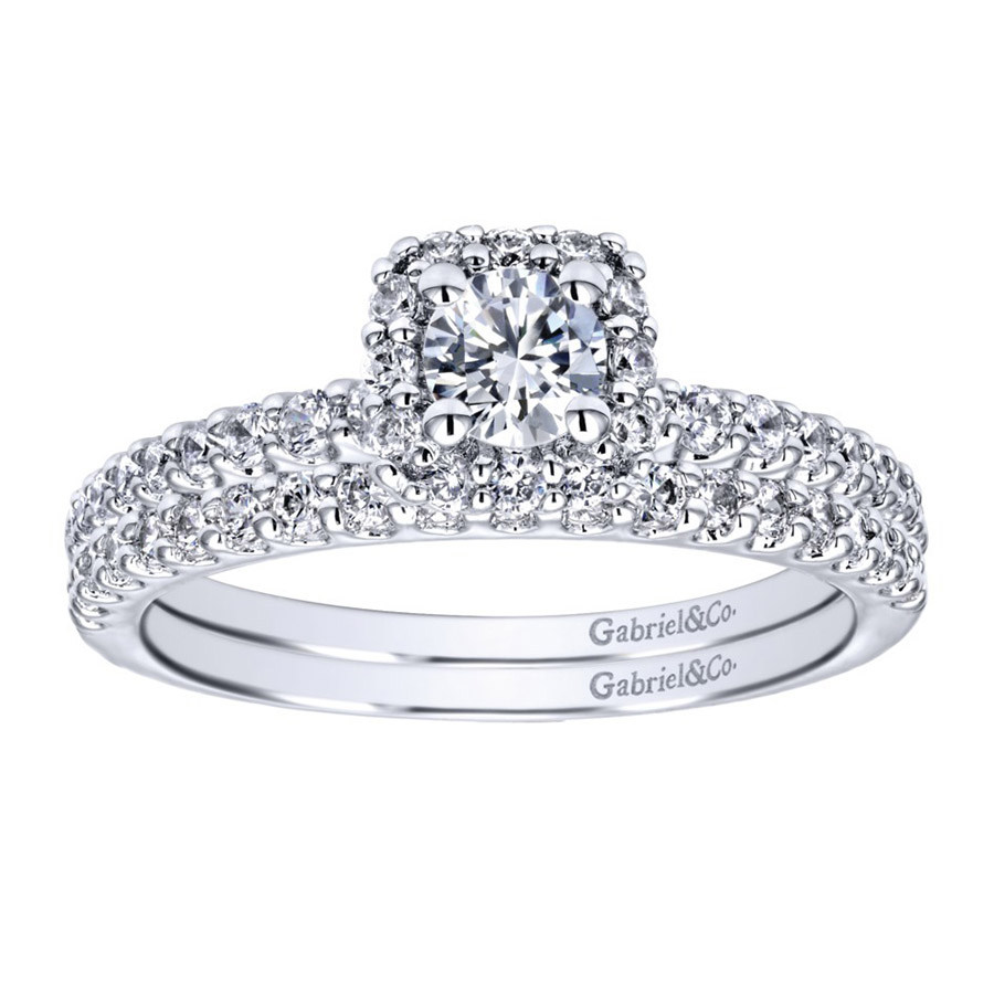 Gabriel 14 Karat Contemporary Engagement Ring ER911727R1W44JJ Alternative View 3