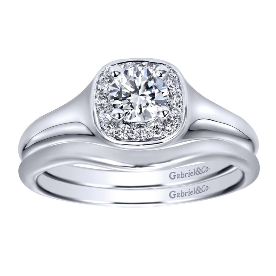 Gabriel 14 Karat Contemporary Wedding Band WB911902R0W4JJJ Alternative View 3