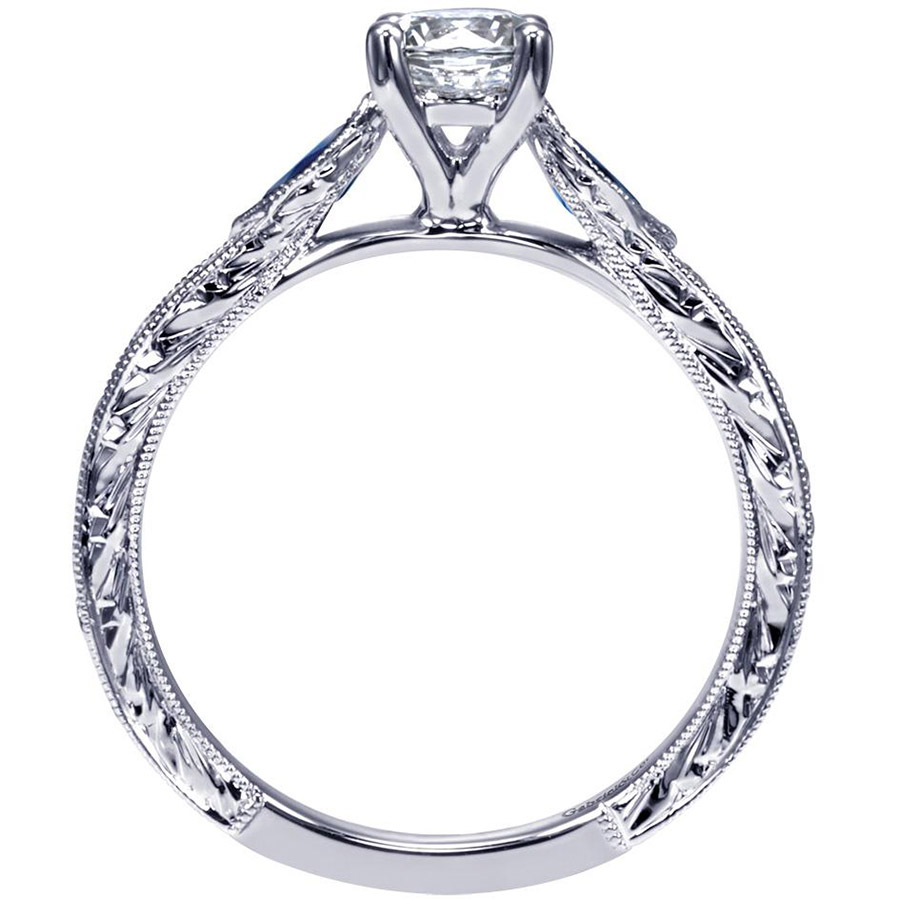 Gabriel 14 Karat Victorian Engagement Ring ER98990W44SA Alternative View 1