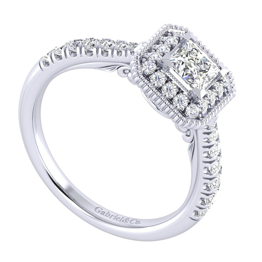 Gabriel 14 Karat Perfect Match Engagement Ring ER039A2ALW44JJ Alternative View 2