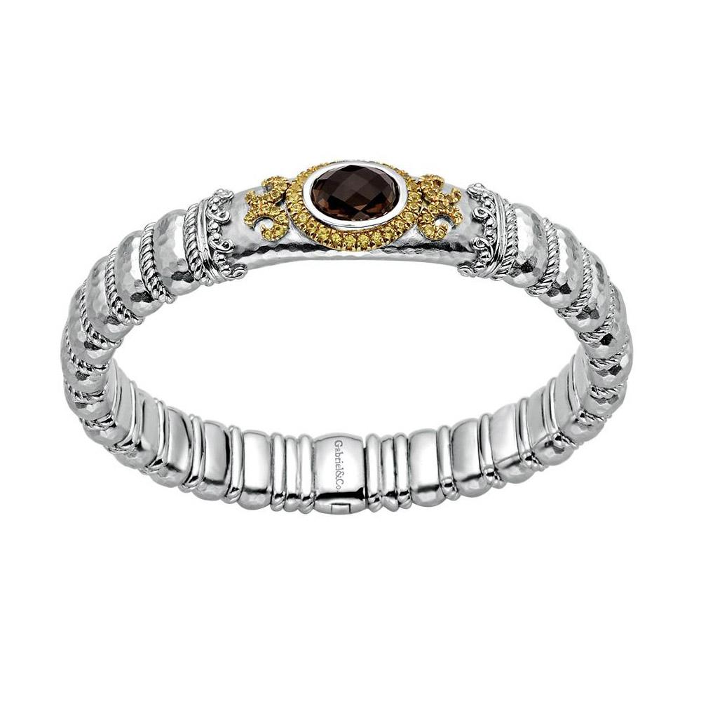 gabriel fashion silver two tone envy bangle bracelet