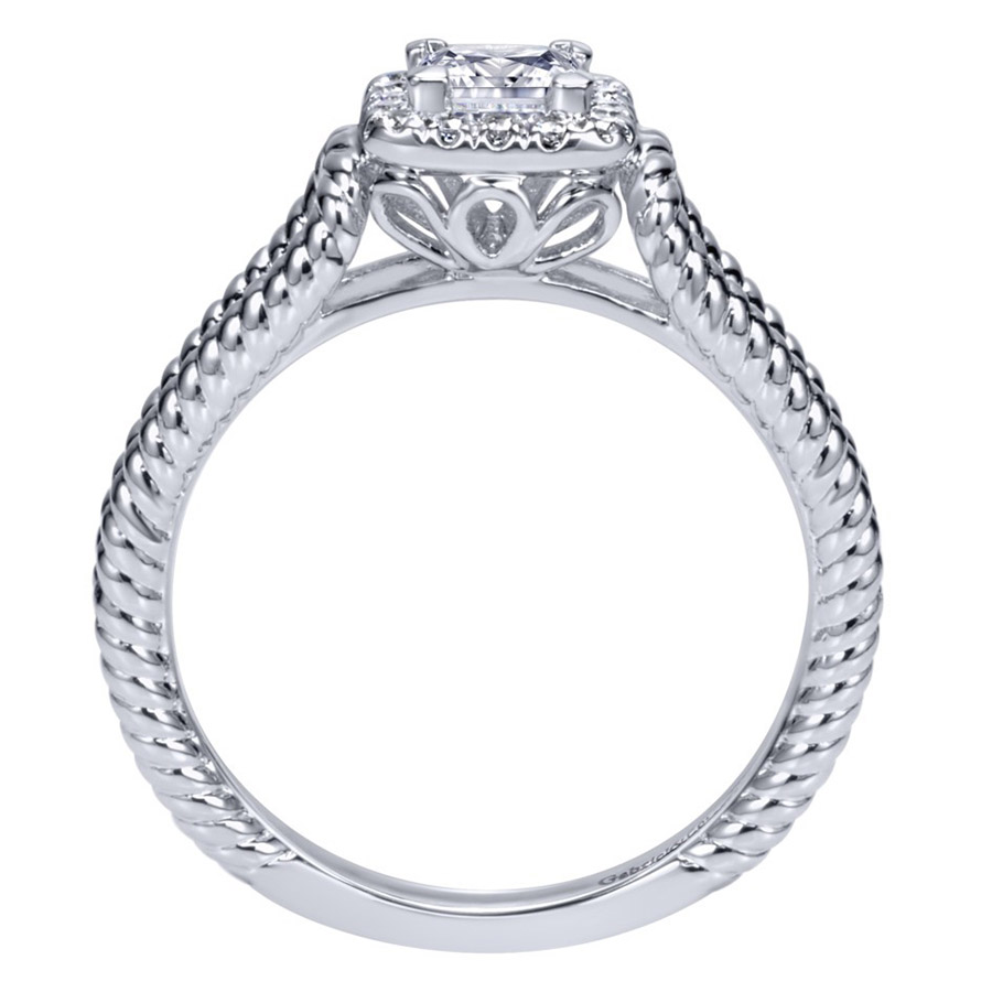 Gabriel 14 Karat Contemporary Engagement Ring ER98562W44JJ Alternative View 1