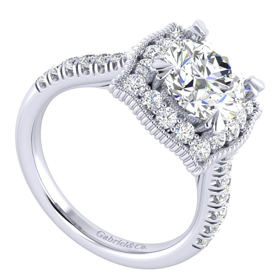 Gabriel 14 Karat Perfect Match Engagement Ring ER039C8AAW44JJ Alternative View 2