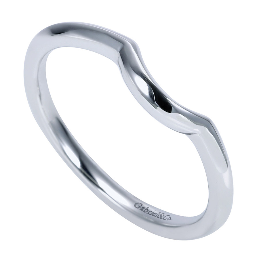 Gabriel Platinum Contemporary Wedding Band WB7730PTJJJ Alternative View 2
