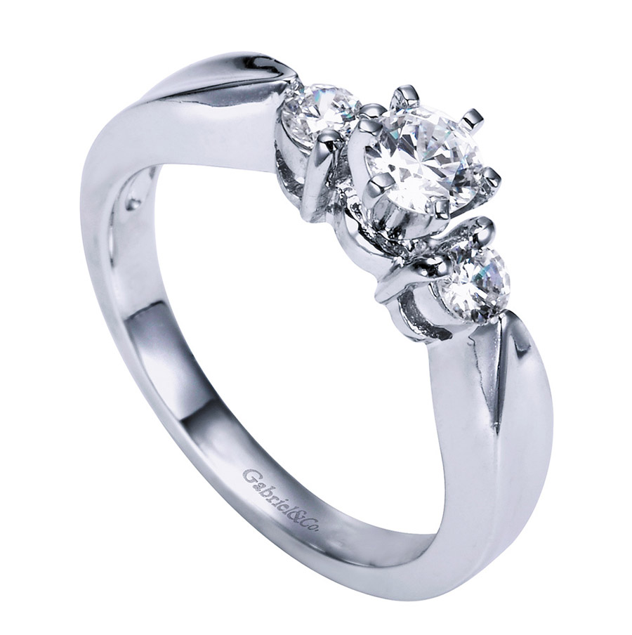 Gabriel 14 Karat Contemporary Engagement Ring ER1705PT3JJ Alternative View 2