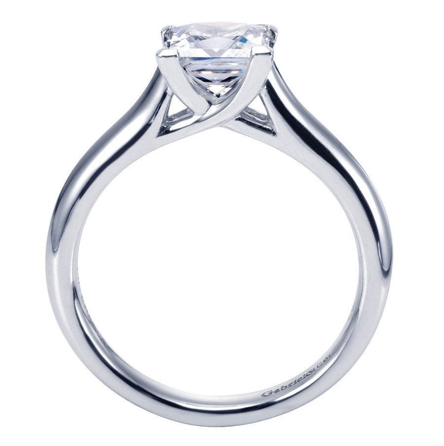 Gabriel Platinum Contemporary Engagement Ring ER6606PTJJJ Alternative View 1