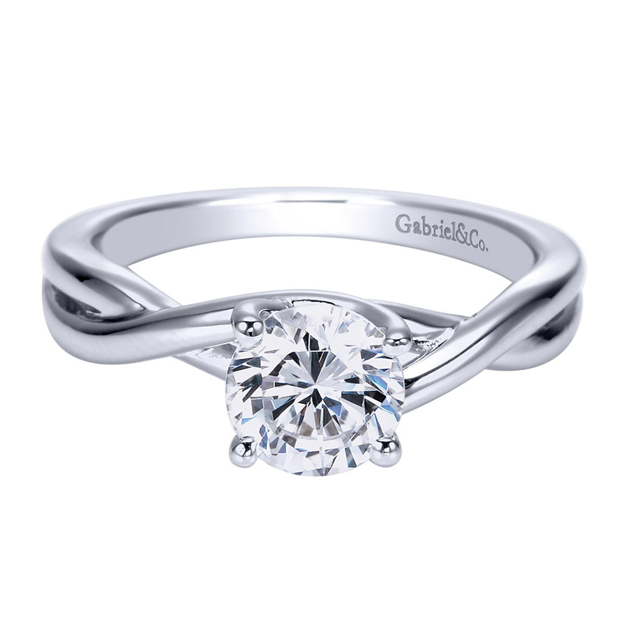 Gabriel Platinum Contemporary Engagement Ring ER8072PTJJJ