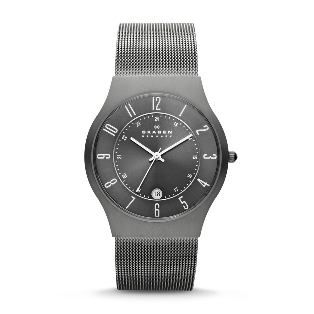 Skagen Watch - 233XLTTM - Grenen Steel Mesh and Titanium Case Alternative View 1