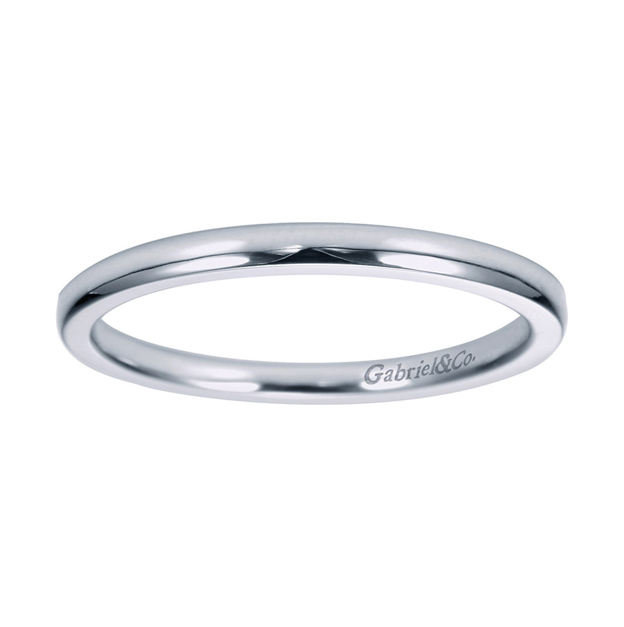 Gabriel Platinum Contemporary Wedding Band WB7944PTJJJ Alternative View 4