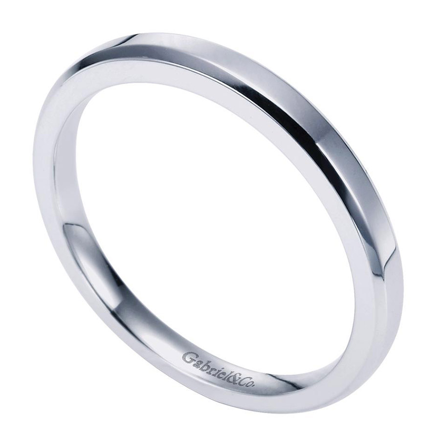 Gabriel Platinum Contemporary Wedding Band WB6576PTJJJ Alternative View 2