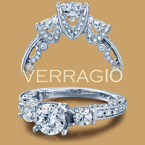 Verragio Platinum Paradiso Engagement Ring PAR-3002 R Alternative View 1